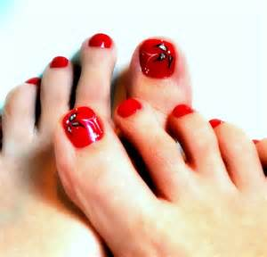 Nail art toes black beautiful toe nail design art view images incredible red toe nail art design ideas for trendy girls prinsesfo Image collections