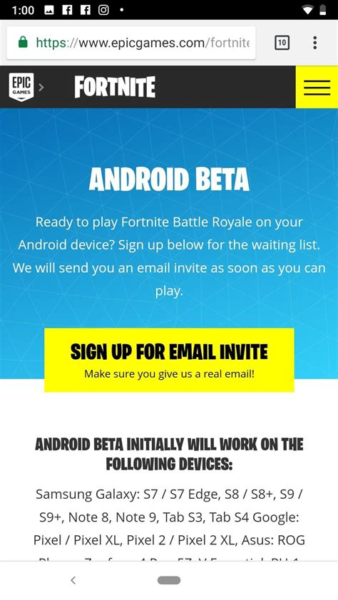 fortnite android beta apk fortnite beta fortnite apk for android
