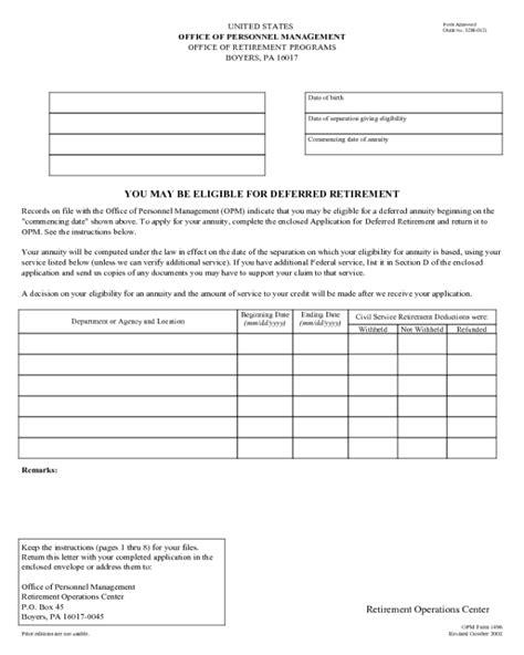 opm form 1496 edit fill sign online handypdf