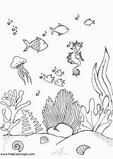 Coloring Underwater Pages Shipwreck Template Comments Coloringhome sketch template