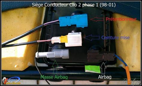 siege clio 2 phase 2 2 1 rs connectique sous les sièges