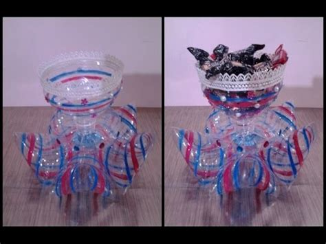 Best Out Of Waste Plastic Decorative Candy Cup  Youtube