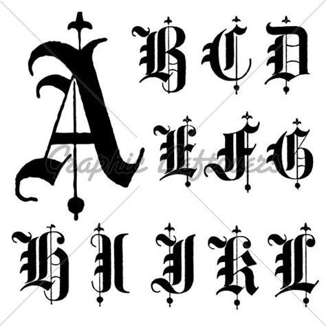 vector medieval font   blackletter capitals medieval