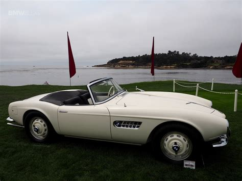 Elvis' Bmw 507 Displayed On Lawn In Pebble Beach