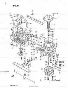 Suzuki Motorcycle 1982 Oem Parts Diagram For Carburetor