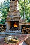 Outdoor Stone Fireplaces   Outdoor Stone Fireplaces small outdoor patio fireplaces