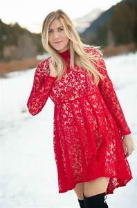 Light Up Christmas Dress Red Lace Free People Dress