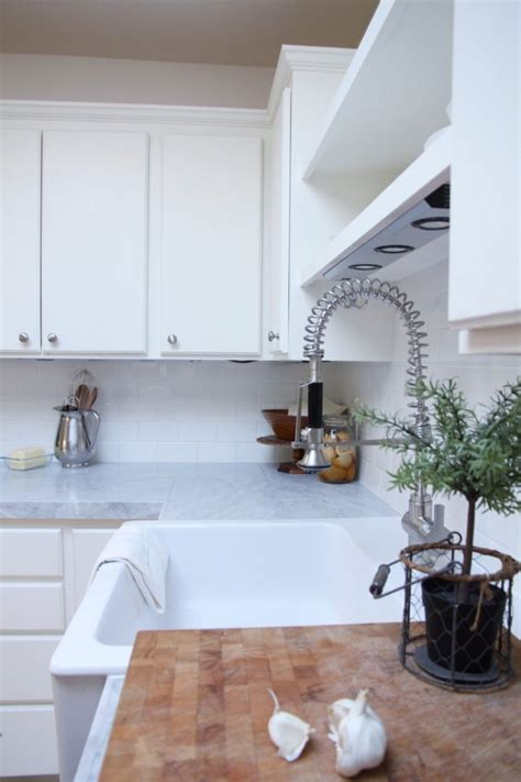 budget kitchen makeover diy faux marble countertops remodelaholic kitchen mini makeover with affordable