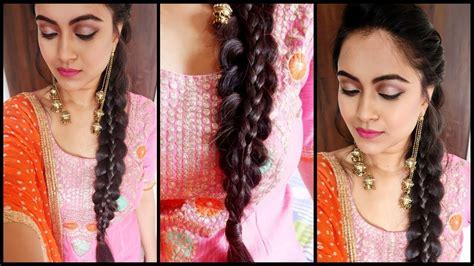 supereasy braid hairstyle punjabi braid   indian