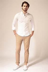 LePantalon Pantalon chino beige homme en vente sur Le