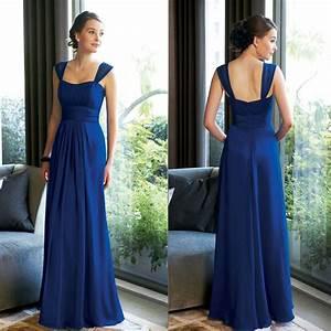 2015 Cheap Long Royal Blue Bridesmaid Dresses Plus Size ...