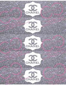 parisian glitter water bottle labels 5 to a sheet With chanel water bottle labels