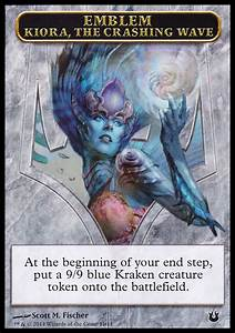 Token - Born of the Gods - Emblem: Kiora, the Crashing Wave