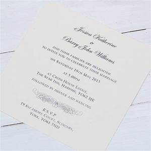 Classic personalised wedding invitation by beautiful day for Wedding invitation text classic