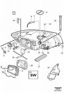 Volvo S40 Control Unit  Hcm  Headlights  Headlamps