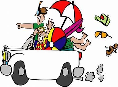 Travel Cartoon Trip Road Funny Vacation Activities
