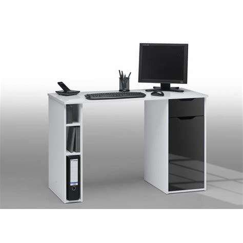Bureau Laqué Blanc Bureau Informatique Design Laqu 233 Blanc Noir Lisandra