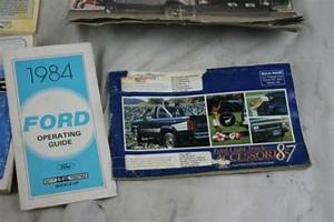 1980s Ford Ranger Bronco Book Owners Manual Sales Brochure
