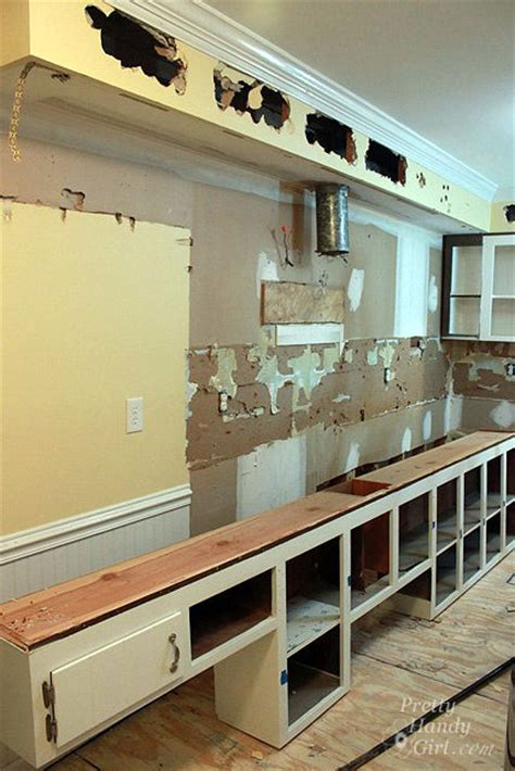 remove  soffit kitchen renovation update pretty handy girl