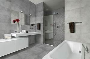 Concrete look tiles sydney large size porcelain floor for Bathroom display centres sydney