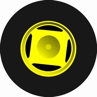 Tractor Wheel Clipart Tires Clip Cartoon Yellow