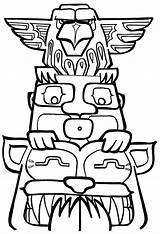 Totem Pole Coloring Poles Pages Funny Drawing Getdrawings Clipartmag Drawn sketch template