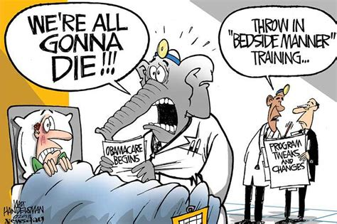 political cartoons  obamacare