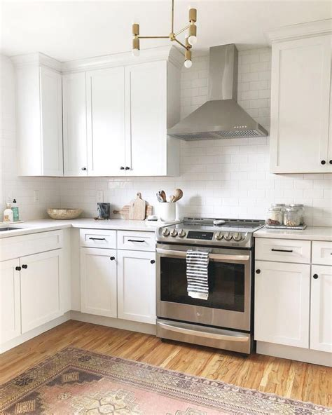 Black cabinet pull, hollow square bar construction, stainless steel material resist scratches and corrosion. Pin by Brittany L-B on barn kitchen in 2020 (With images) | White shaker kitchen, Black kitchen ...