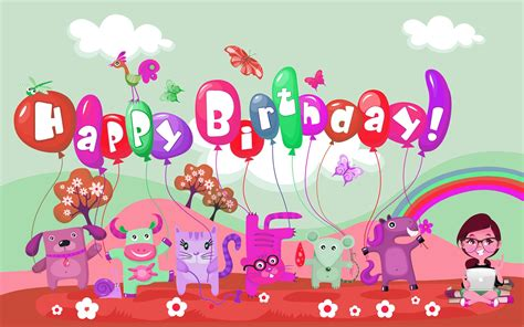 Free Happy Birthday Animated Wallpapers - happy birthday animation hd wallpapers rocks