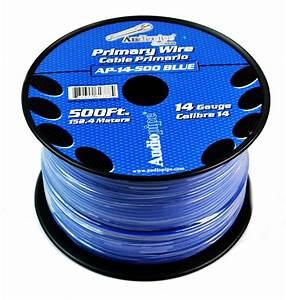 Cable Audiopipe Primario Cal  14 Azul 500 U0026 39