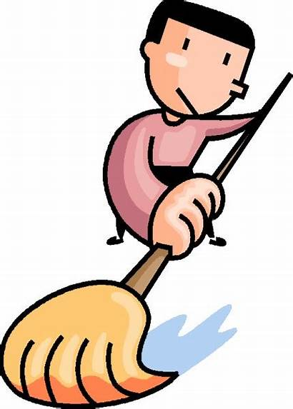 Floor Clip Mop Dan Clipart Mopping Pembersihan