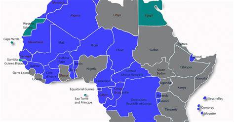 Francophone Africa Map.Map Francophone Africa