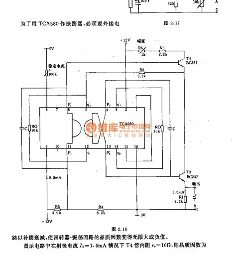 Low Frequency Oscillator Circuit With Tca