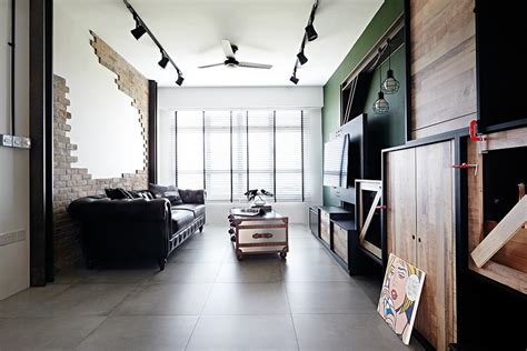 loft style spaces  hdb flat homes home decor singapore