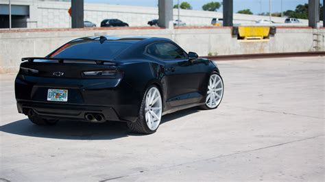 chevy camaro ss  wallpapers hd black vossen wheels