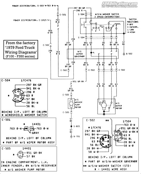 Ford F 350 Windshield Wiper Motor Wiring Diagram by Ford Truck Technical Drawings And Schematics Section H