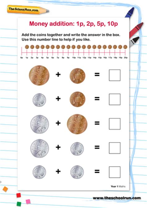 money addition 1p 2p 5p 10p by theschoolrun teaching resources
