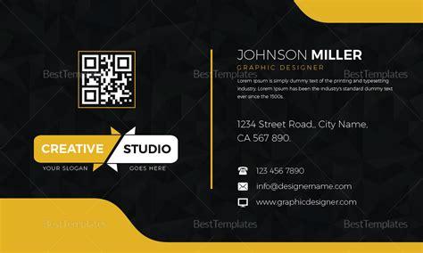 graphic designer business card design template  psd