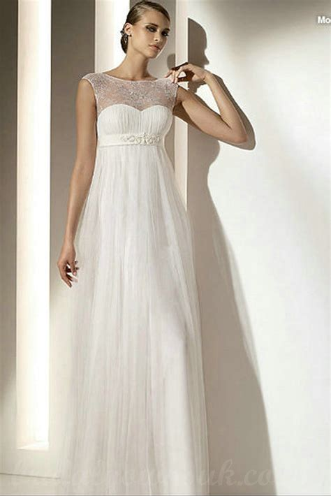 maternity wedding gown buy cheap bateau sheer maternity sheath chiffon inexpensive wedding dress