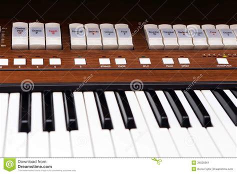 Organ Keys Stock Image Image 34525961