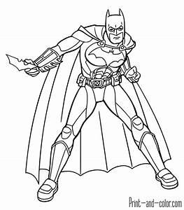 Batman Coloring Pages Print And Colorcom