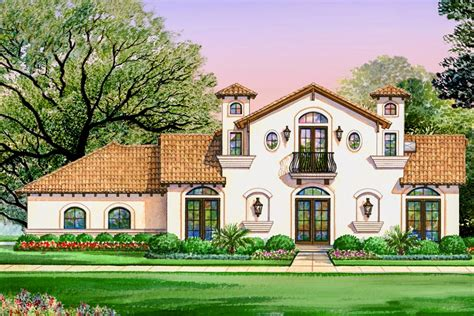 luxury spanish villa   bedrooms tx architectural designs house plans