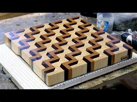 Making A 3d End Grain Cutting Board #3  Woodworking And More