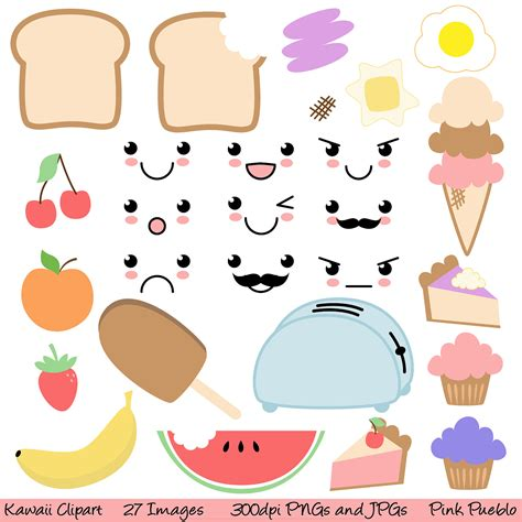 cuisine kawaii kawaii food clipart clip commercial and by pinkpueblo