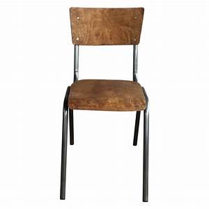 Chaise Style Industriel : chaise d 39 ecolier style vintage industriel demeure et jardin ~ Teatrodelosmanantiales.com Idées de Décoration