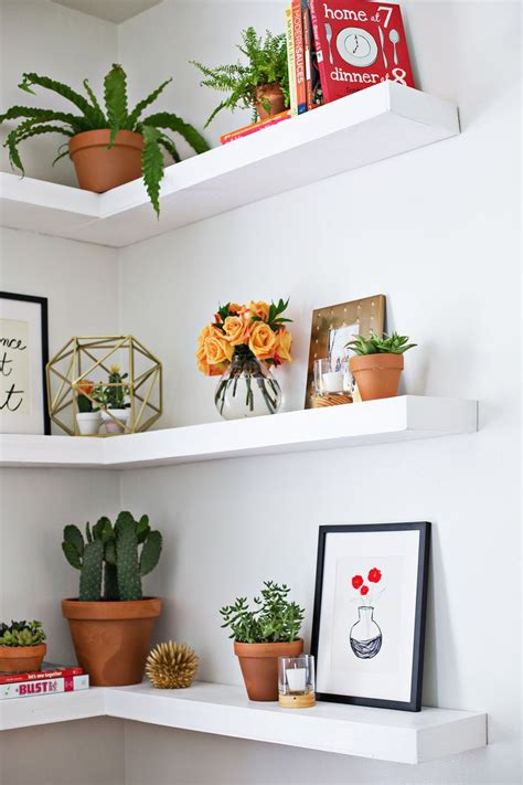 corner floating shelf make shelves as lovely as the items you put on them with