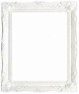 "White 36"" x 24"" decorative swept picture frames - 2"" wide"