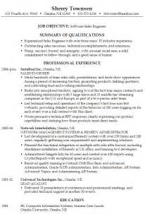 Team Manager Cover Letter Resume For A Software Sales Engineer Susan Ireland Resumes