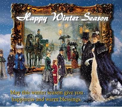 Winter Happy Season Wishes Greetings Warm Cards