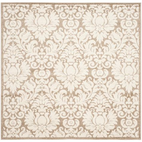 9 X 9 Outdoor Rug by Safavieh Amherst Wheat Beige 9 Ft X 9 Ft Indoor Outdoor
